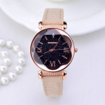 Rose Gold Leather Watches Women