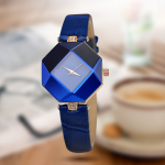 AliExpress | Geometry Crystal Leather Quartz Wristwatch | AliAddicts