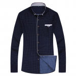 Casual Long Sleeved Printed shirt for men | AliAddicts | AliExpress
