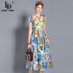 Best review for Floral Print Midi Cotton Vestidos Dress – You Should Try