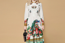 Long Sleeve Charming Floral Print dress – You Should Try
