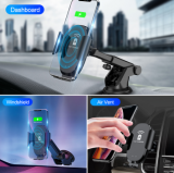 Automatic Qi Fast Wireless Car Phone Charger